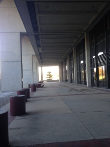 the veranda in front of Building 2.  No one's running on it anymore.