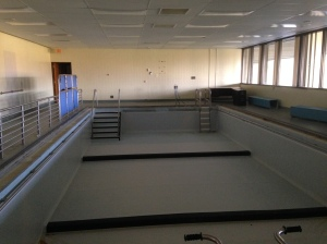 The therapy pool. Where the pool therapist once caught a patient giving her St. Bernard a bath in the locker room.